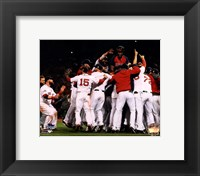 Framed Boston Red Sox winning Game Six of the 2013 World Series