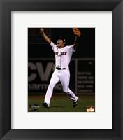 Framed Koji Uehara celebrates winning Game 6 of the 2013 World Series