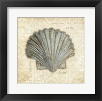 Beach Treasures I - square Framed Print