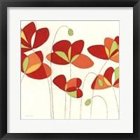 Poppy Field Square I Framed Print
