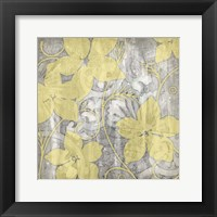 Framed Yellow & Gray I