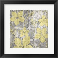 Framed Yellow & Gray II
