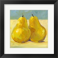 Framed Pair of Pears