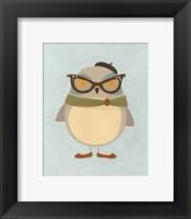 Hipster Owl I Framed Print