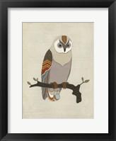 Chevron Owl I Framed Print