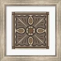 Framed Piazza Tile in Brown I