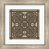Framed Piazza Tile in Brown IV