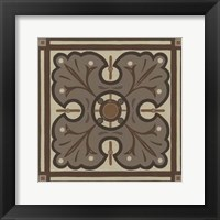 Piazza Tile in Brown IV Framed Print