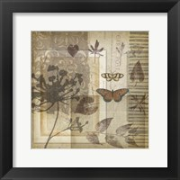 Small Notebook Collage I Framed Print