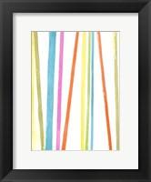 Framed Cabana Stripes I