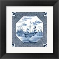 Framed Delft Tile V