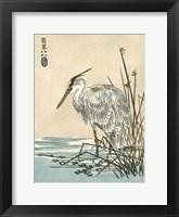 Framed Oriental Crane I