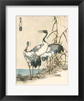 Framed Oriental Crane II