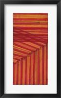 Framed Line Study Orange