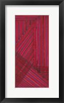 Framed Line Study Red