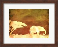 Framed Safari Sunrise I