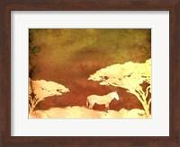 Framed Safari Sunrise III