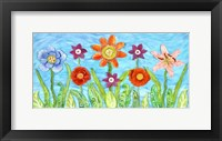 Framed Flower Play I
