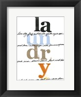 Framed Laundry Lines I