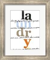 Framed Laundry Lines I