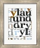 Framed Laundry Lines IV