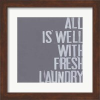 Framed Fresh Laundry I