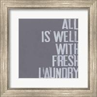 Framed Fresh Laundry I