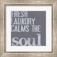 Framed Fresh Laundry II