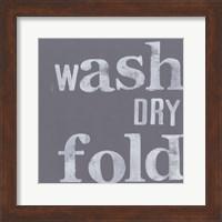 Framed Fresh Laundry III
