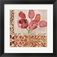 Framed Portrait of Tulips