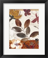 Framed Modern Flowers I