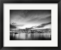 Framed B&W Sunset Reflections