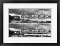 Framed Skyscape City Panorama