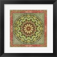 Framed Floress Mandala III