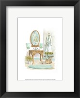 Framed Watercolor Bath in Spa I