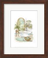 Framed Watercolor Bath in Spa II