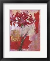Framed Magenta Flower Collage I