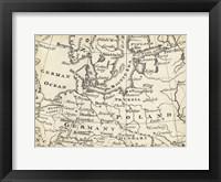 Framed Map of Europe Grid V