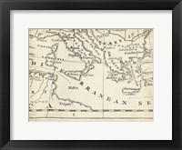 Framed Map of Europe Grid VIII