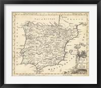 Framed Map of Spain