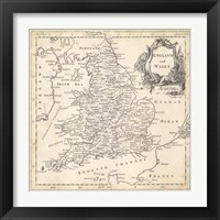 Framed Map of England & Wales