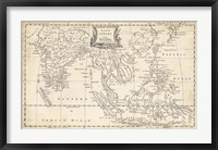Framed Map of East Indies