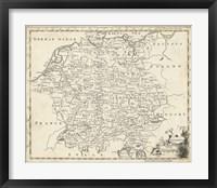 Framed Map of Germany