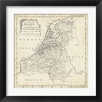 Framed Map of Netherlands