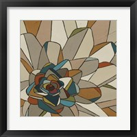 Framed Stained Glass Floral II