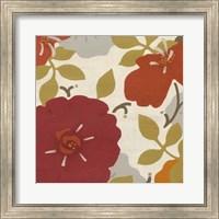 Framed Hibiscus Fresco I