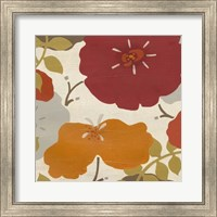 Framed Hibiscus Fresco II