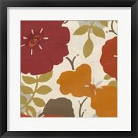 Hibiscus Fresco III Framed Print
