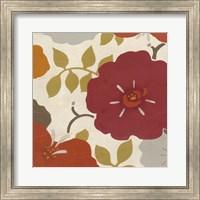 Framed Hibiscus Fresco IV