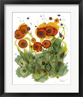 Framed Poppy Whimsy VII